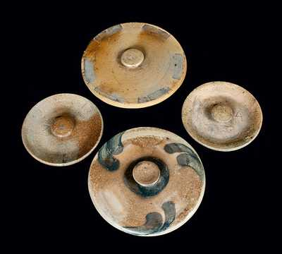 Lot of Four: America Stoneware Lids