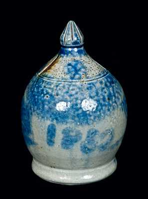 Rare Dated 1852 Two-Slotted Pennsylvania Stoneware Bank