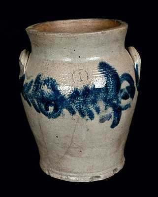 Baltimore Stoneware Crock with Floral Decoration, c1825