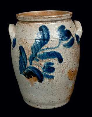 1 Gal. Baltimore, MD, Stoneware Crock with Tulip Decoration