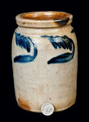 Small-Sized Cobalt-Decorated Stoneware Jar, attrib. Richard C. Remmey, Philadelphia, PA, circa 1875