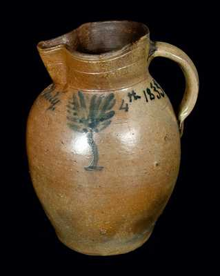 Extremely Rare July 4, 1833, Maysville, KY Stoneware Pitcher - Probably Earliest Dated Example of Kentucky Pottery