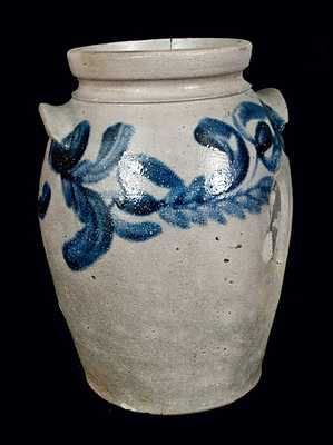 Stoneware Crock with Tulip Decoration, Baltimore, circa 1830