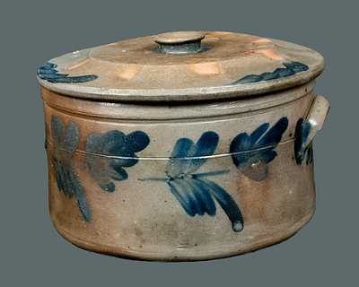 Chester County, PA Stoneware Cake Crock with Lid