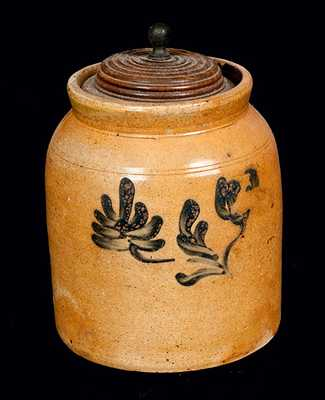Stoneware Jar with Floral Decoration
