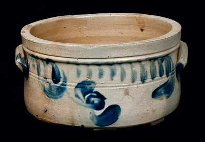 1 Gal. Pennsylvania Stoneware Butter Crock with Tulip Decoration