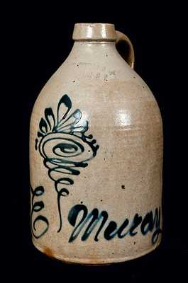 HAXSTUN, OTTMAN, & CO. / FORT EDWARD Stoneware Jug with Script Advertising