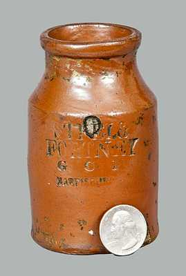 Rare Stoneware Ink Bottle with HARRISBURG Advertising
