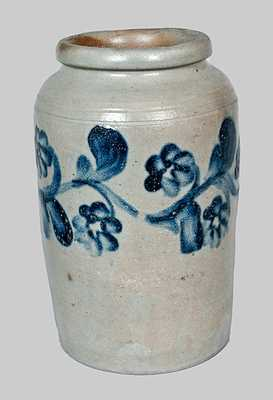 Stoneware Jar with Elaborate Floral Decoration, attrib. Henry Remmey, Philadelphia, c1830