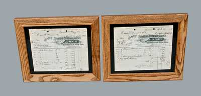 Lot of Two: SYRACUSE STONEWARE AGENCY Framed Billheads