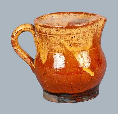 Redware Cream Pitcher attrib. Henry Schofield, Cecil County, MD