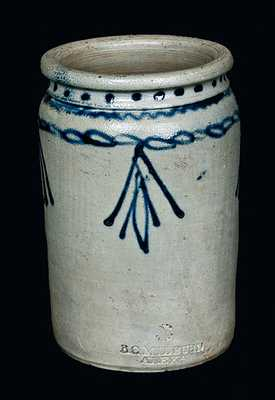 1 Gal. B. C. MILBURN / ALEXA. Stoneware Jar with Slip-Trailed Decoration