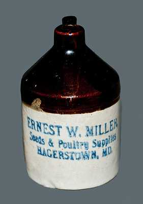 Rare Miniature Hagerstown, MD Stoneware Advertising Jug, c1900 (2 of 2 nearly identical lots)