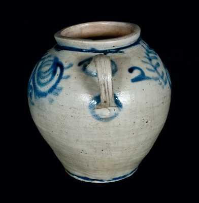 Extremely Rare and Important c1750 Stoneware Jar, Kemple Pottery, Ringoes, NJ