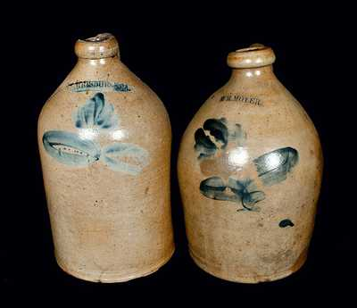 Lot of Two: Stoneware Jugs by William Moyer, Harrisburg, PA