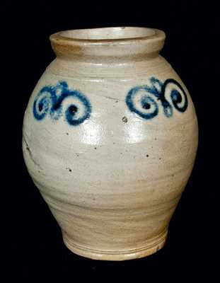 18th Century Ovoid Stoneware Jar, New York City or Cheesequake, New Jersey