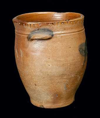PAUL CUSHMAN, Albany, NY, Stoneware Crock with Floral Decoration