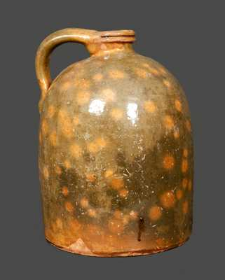 1 Gal. Galena, IL, Redware Jug with Tooled Spout