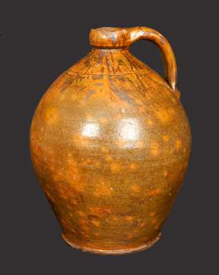 Large Ovoid Redware Jug probably Galena, IL