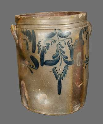 6 Gal. J. M. HICKERSON / STRASBURG, VA Stoneware Crock with Floral Decoration