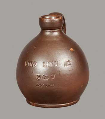 Rare Stoneware Little Brown Jug Impressed