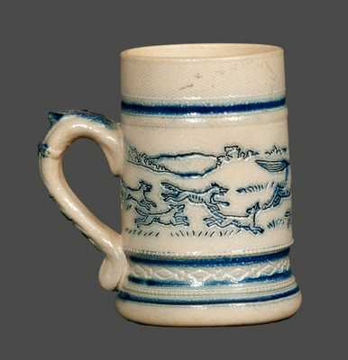 Molded Stoneware Mug with Impressed Decoration