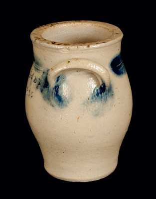 Miniature New York State Stoneware Crock Dated April 27, 1830