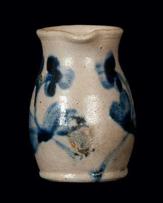 Miniature Baltimore Stoneware Pitcher with Clover Decoration