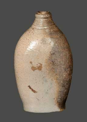 Early Cobalt-Decorated Stoneware Flask, probably New York State, circa 1820.