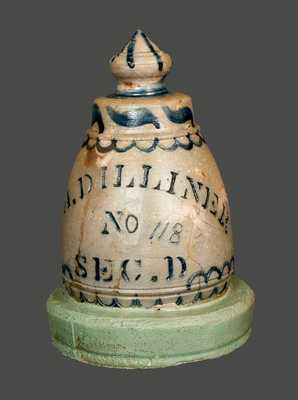 Extremely Rare Dilliner (New Geneva, PA) Stoneware Grave Marker