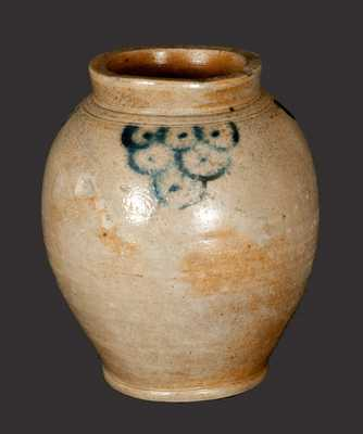 Fine Ovoid Decorated Stoneware Jar attributed to Clarkson Crolius, Sr., Manhattan, NY