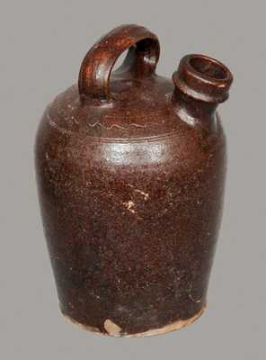 Manganese Glazed Redware Harvest Jug, Possibly Tennessee or Southwest Virginia