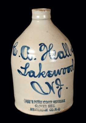 Lakewood, NJ Stoneware Script Jug with CASE'S PURE CIDER VINEGAR Impressed at Base
