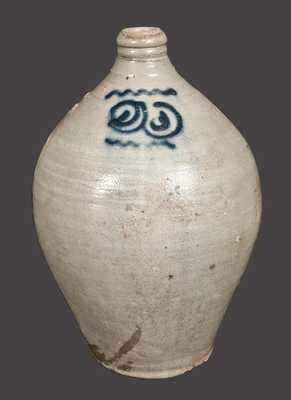 2 Gal. Stoneware Jug with Watchspring Decoration att. Capt. James Morgan, Cheesequake, NJ, 1780-90