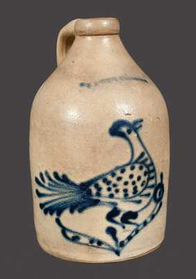 W. ROBERTS / BINGHAMPTON Stoneware Jug with Bird Decoration