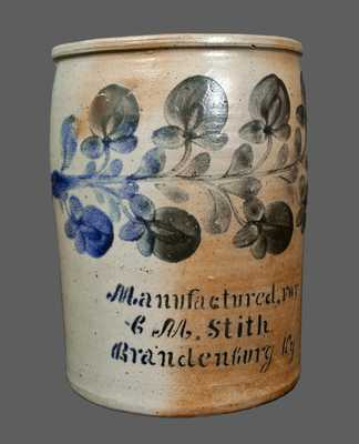 Very Rare Two-Gallon Stoneware Advertising Crock att. J. H. MILLER / BRANDENBURG, KY