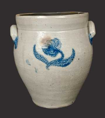New York State Stoneware Crock with Floral Decoration