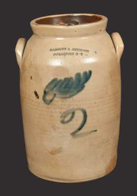 MABBETT & ANTHONE / PO'KEEPSIE, NY Decorated Stoneware Lidded Jar