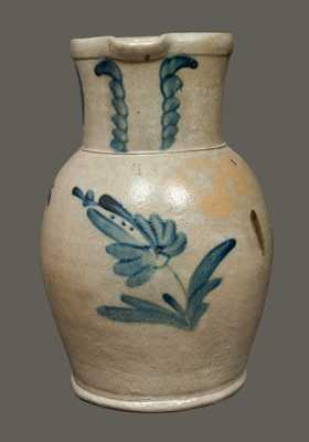 1 1/2 Gal. Stoneware Pitcher with Floral Decoration att. Samuel Irvine, Newville, PA