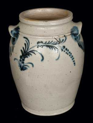 Rare Stoneware Jar with Slip-Trailed Decoration, Baltimore, circa 1820