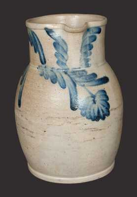 1 Gal. Stoneware Pitcher with Hanging Floral Decoration, Baltimore, circa 1860