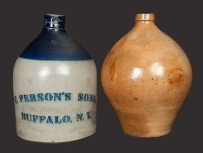 Lot of Two: Buffalo, New York, Stoneware Jugs