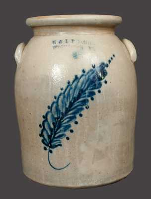 2 Gal. E. & L. P. NORTON / BENNINGTON, VT Stoneware Crock with Cobalt Decoration