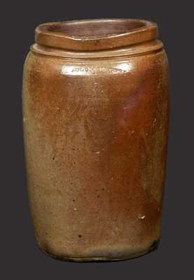 1 Gal. Stoneware Jar Marked SOLOMON BELL, Winchester or Strasburg, VA, circa 1840