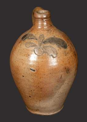 Small Stoneware Jug w/ Incised Decoration attrib. John Remmey, Manhattan, circa 1810