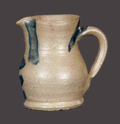 Rare Miniature Stoneware Pitcher att. C. F. Decker (Chucky Valley, TN)