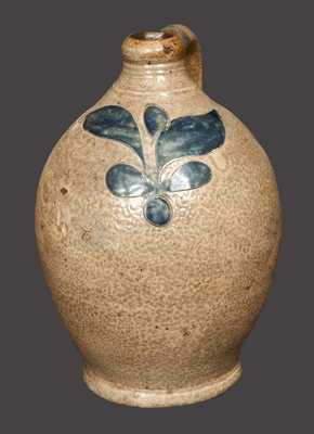 Rare Small-Sized Stoneware Jug with Incised Foliate Decoration, attrib. Clarkson Crolius, Sr.