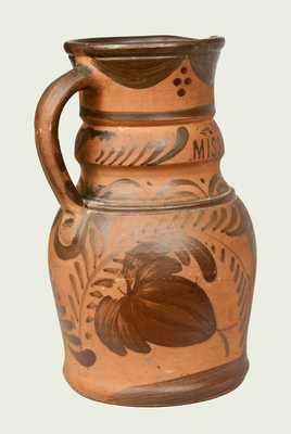 Very Rare New Geneva, PA Tanware Presentation Pitcher Inscribed to