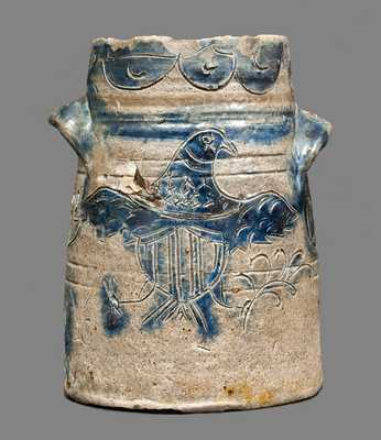 Stoneware Jar with Profuse Incised Eagle, Inscribed