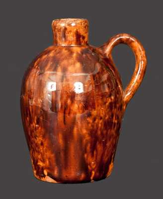 Exceptional Diminutive JOHN BELL Redware Jug Inscribed
